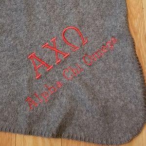 AXO Alpha Chi Omega Sorority Blanket